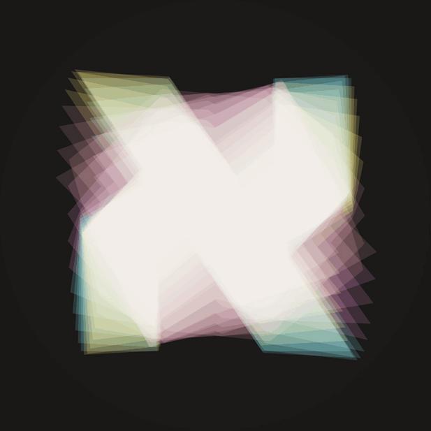 """האל""""ף המרהיבה הזאת נוצרה משכבות של זויות מבט שונות על האות התלת־ממדית"""