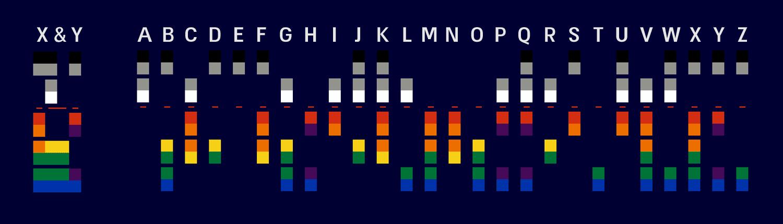 עיצוב עטיפת האלבום X&Y של קולדפליי, התבסס על שפת באודו.