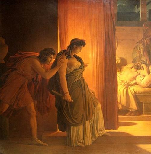 רצח אגממנון, ציור מאת פייר-נרקיס גרה (1817)