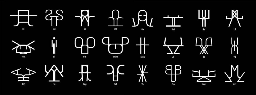 The ENGREW Creatures  <span>— מוטציות של אות עברית ולטינית</span>